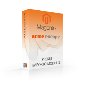 ACME ACC EUROPE prekių importo modulis